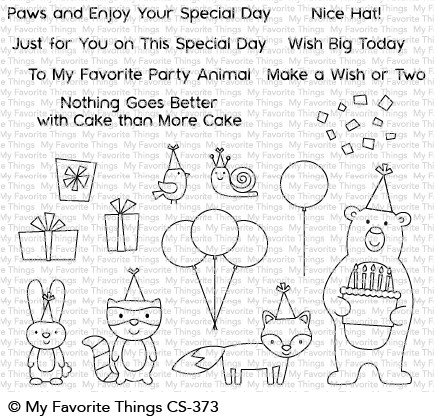 Clear Stamps Birthday Bear & Friends - Geburtstagsbär & Freunde