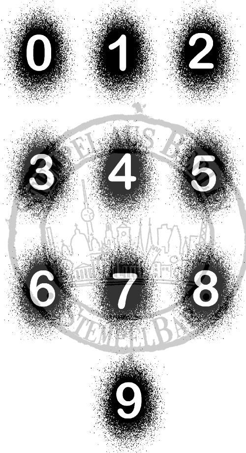 StempelBar Stempelgummi Zahlen