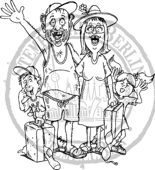 StempelBar Stempelgummi Familienurlaub