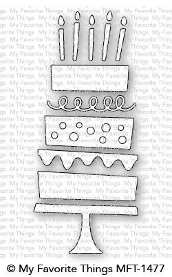 Stanzschablone Birthday Cake Die-namics Geburtstagskuchen