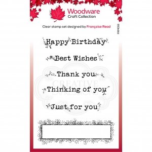 WOODWARE-Clear-Singles-Boxed-Greetings---Glckwnsche