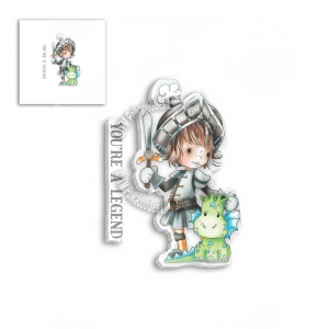 Polkadoodles-Clear-Stamps---LITTLE-DUDES-LEGEND-KNIGHT