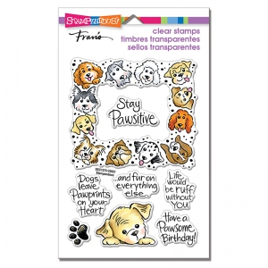Stampendous-Perfectly-Clear-Stamps---Puppy-Frame---Hund