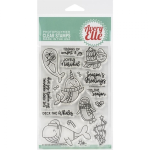 Avery-Elle-Clear-Stamps---Joyeux-Narwhal---Meerestiere-Weihnachten-