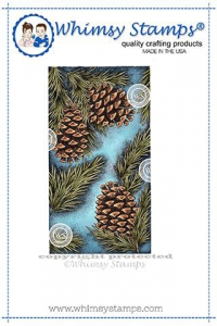 Whimsy-Stamps-Rubber-Cling-Stamp----Pine-Bough-Background-Gummistempel-