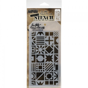 Tim-Holtz-Collection-Schablone-Layering-Stencil-Patchwork-Cube