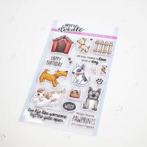Heffy-Doodle-Clear-Stamps-Set---Who-Let-the-Dogs-Out---Stempel-Hunde