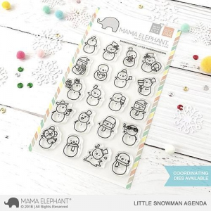 Mama-Elephant---Clear-Stamps-LITTLE-SNOWMAN-AGENDA---Schneemnner
