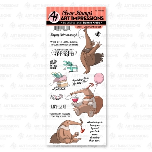 Art-Impressions-Clear-Stamps-Crazy-Antics-Set---Ameisenbr