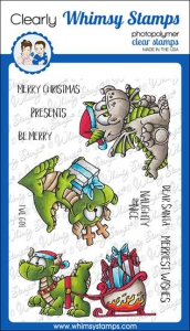Whimsy-Stamps-Clear-Stamps---Dragon-Christmas-Wishes-Drachen-Weihnachten