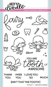 Heffy-Doodle-Clear-Stamps-Set---Absotoothly-Awesome---Stempel-Zahnfee