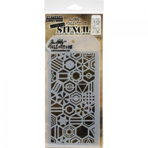Tim-Holtz-Collection-Schablone-Layering-Stencil-Patchwork-Hex-