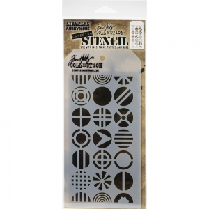 Tim-Holtz-Collection-Schablone-Layering-Stencil-Patchwork-Circle