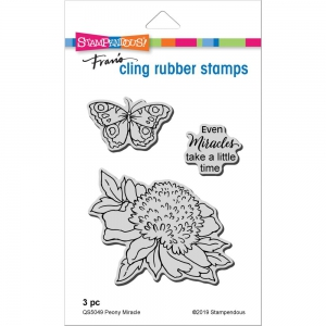 Stampendous-Cling-Stamps-Peony-Miracle-Rubber-Stamp---Gummistempel-Pfingstrose