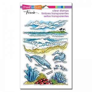Stampendous-Perfectly-Clear-Stamps---Dolphin-Play