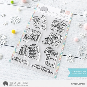 Mama-Elephant---Clear-Stamps-SANTA-BABY---Weihnachten