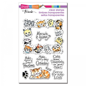 Stampendous-Perfectly-Clear-Stamps---Kitty-Frame---Katzen