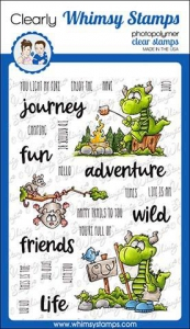 Whimsy-Stamps-Clear-Stamps----Camping-Dragons---Camping-Drache