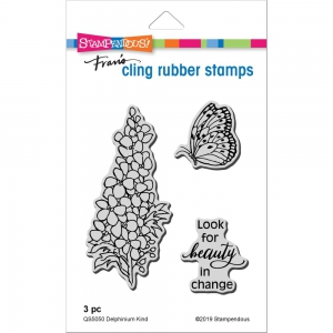 Stampendous-Cling-Stamps-Delphinium-Kind-Rubber-Stamp---Gummistempel-Rittersporn