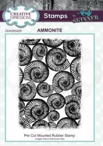 CE-Rubber-Stamp-by-Andy-Skinner-Ammonite---Ammonit