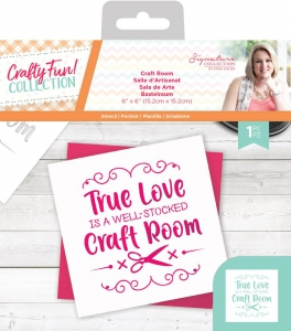 Crafters-Companion---Sara-Signature-Crafty-Fun-Stencil---Craft-Room---Schablone