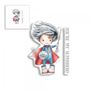 Polkadoodles-Clear-Stamps---LITTLE-DUDES-SUPERHERO