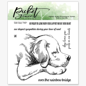 Picket-Fence-Studios-Clear-Stamps-Stella-Puppy---Hund