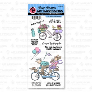 Art-Impressions-Clear-Stamps-Enjoy-the-Ride-Set---Fahrrradtour