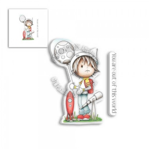 Polkadoodles-Clear-Stamps---LITTLE-DUDES-ASTRONAUT-