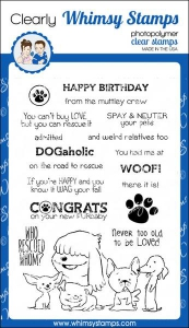 Whimsy-Stamps-Clear-Stamps----Adopt-Dont-Shop-DOGS---Hunde
