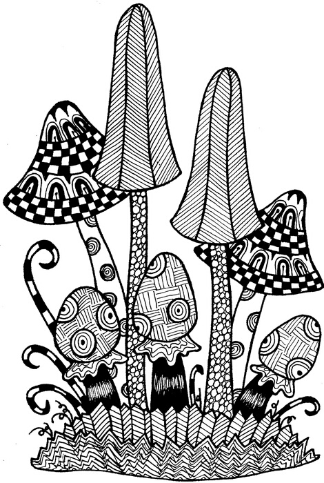 Bild 1 von Clearstamps Zendoodles Fungi Ready To Go