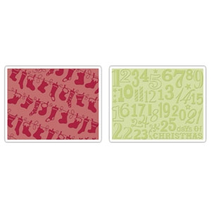 Bild 1 von Sizzix Prägefolder Textured Folders Christmas Stockings Set