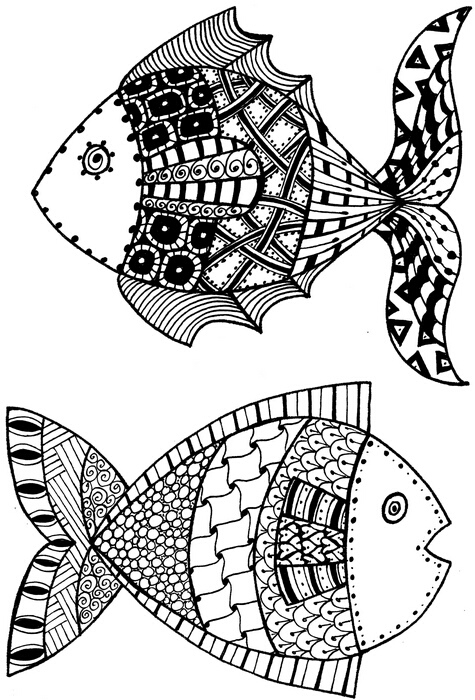 Bild 1 von Clearstamps Zendoodles Fish Ready To Go