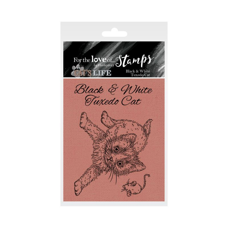 Bild 1 von For the love of...Stamps by Hunkydory - It's A Cat's Life Clear Stamp - Black & White Tuxedo