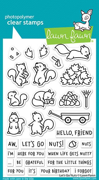Bild 1 von Lawn Fawn Clear Stamps - Let's Go Nuts
