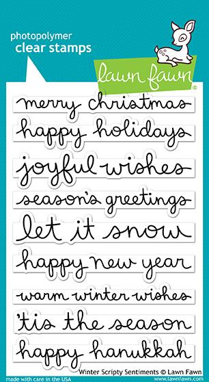 Bild 1 von Lawn Fawn Clear Stamps  - Clearstamp winter scripty sentiments