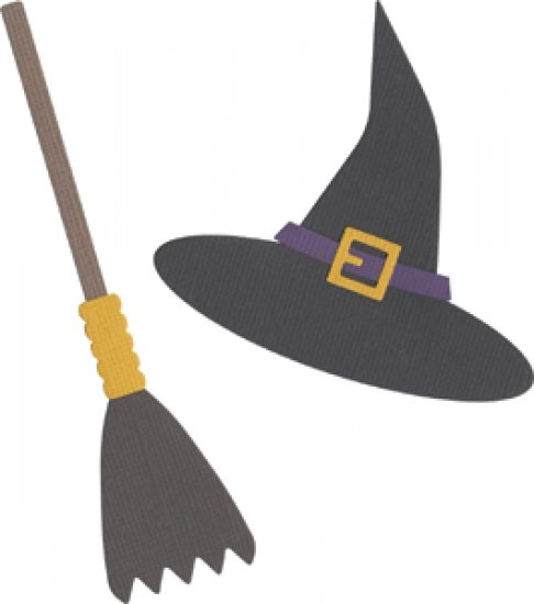 Bild 1 von QuicKutz Stanzschablone Witch Hat & Broom