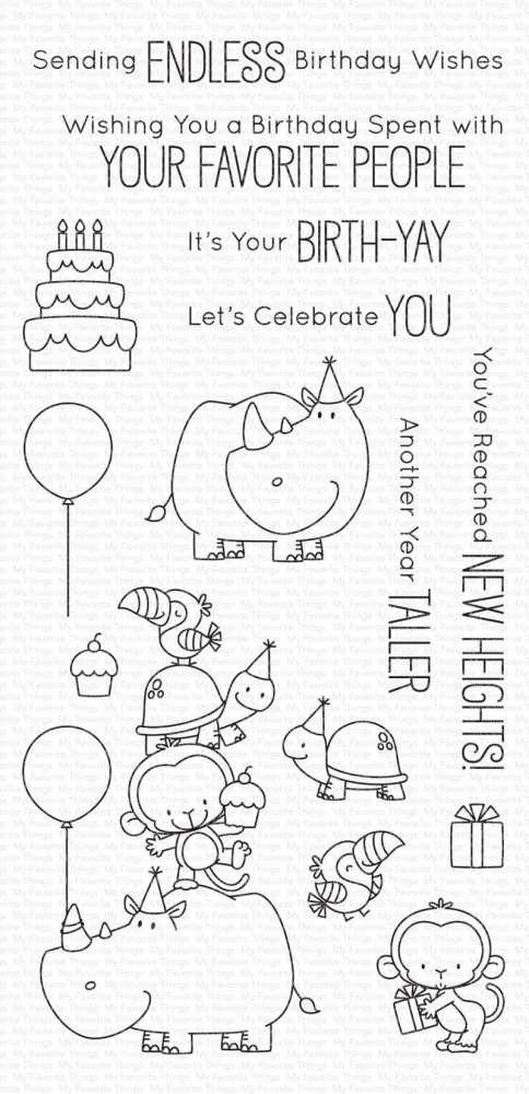 Bild 1 von My Favorite Things - Clear Stamps BB Birth-Yay - Geburtstag