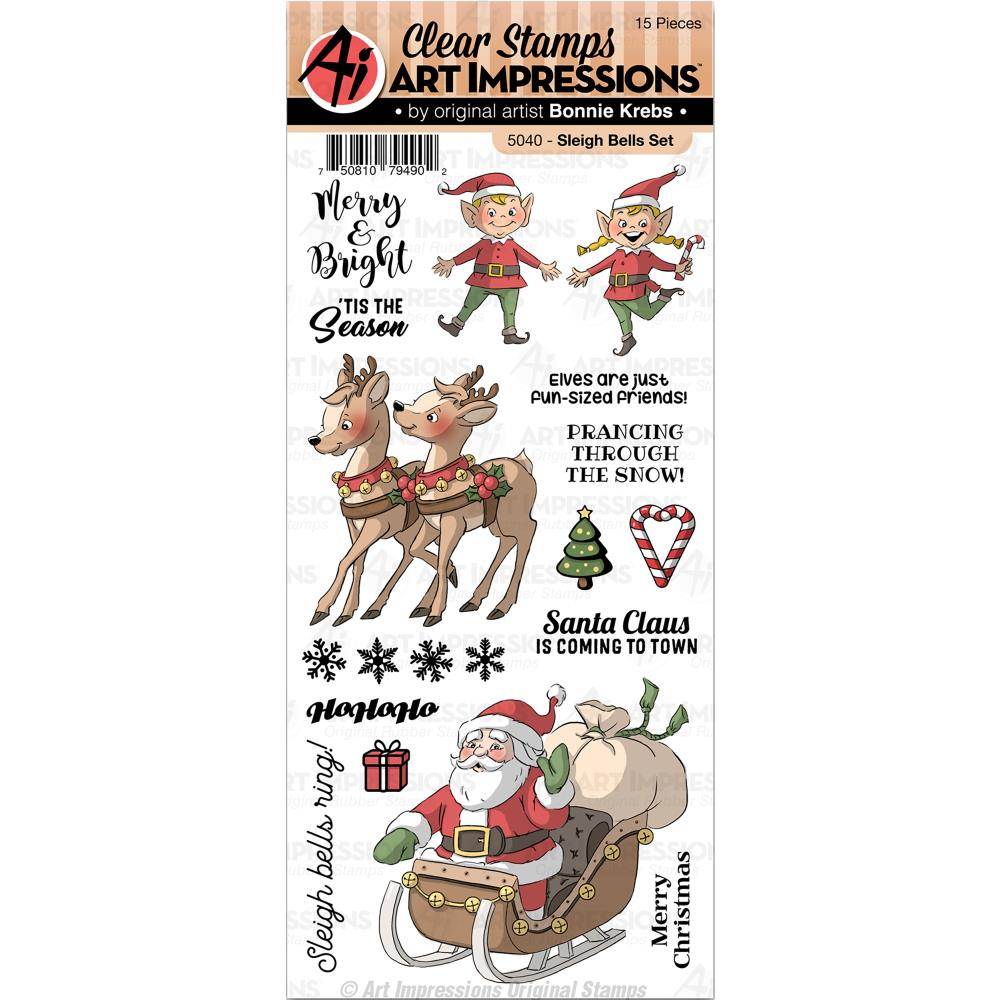 Bild 1 von Art Impressions Clearstamps Sleigh Bells Set