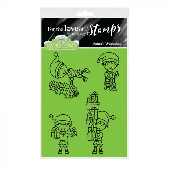 Bild 1 von For the love of...Stamps by Hunkydory - Happy Town Clear Stamp - Sants's Workshop