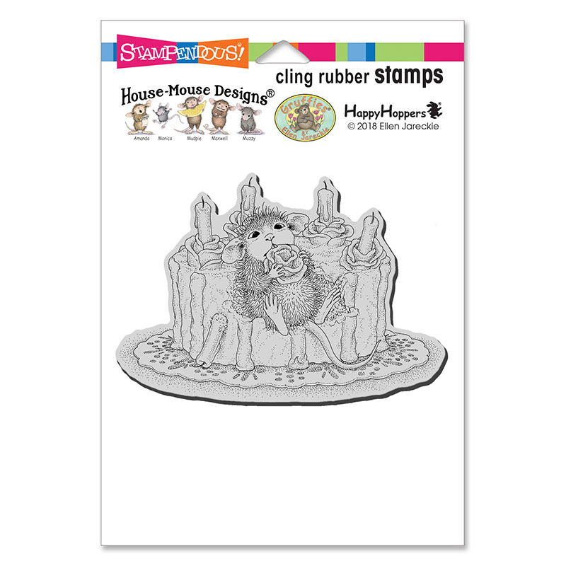 Bild 1 von House Mouse Cling Rubber Stamps - Icing Roses