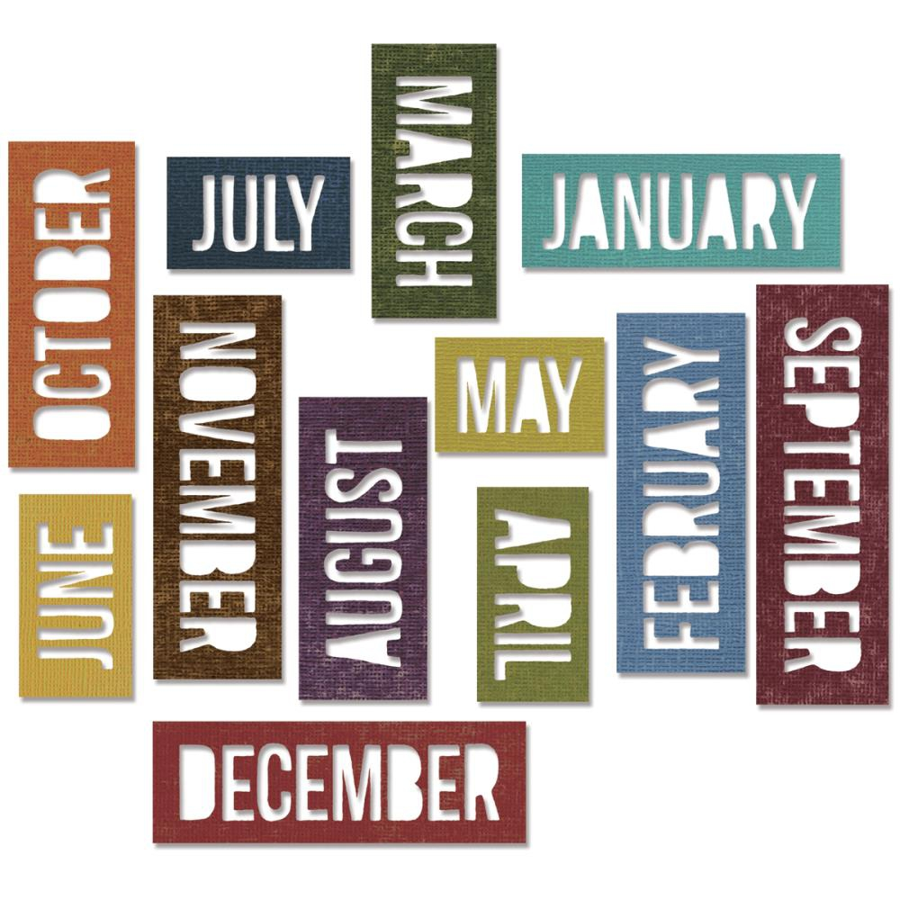 Bild 1 von Sizzix Thinlits Dies By Tim Holtz Block Calendar Words