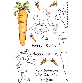 Bild 1 von Clearstamps HoneyPOP Carrot Bunny