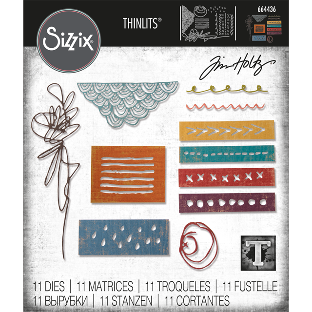 Bild 1 von Sizzix Thinlits Dies Stanzschablone By Tim Holtz Media Marks