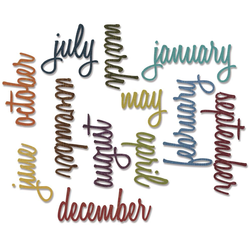 Bild 1 von Sizzix Thinlits Dies By Tim Holtz Script Calendar Words