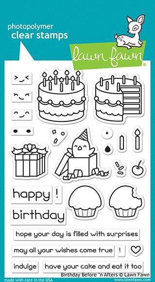 Bild 1 von Lawn Fawn Clear Stamps  - Clearstamp birthday before 'n afters
