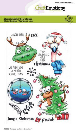 Bild 1 von CraftEmotions Stempel - clearstamps A6 - Jungle Christmas Carla Creaties