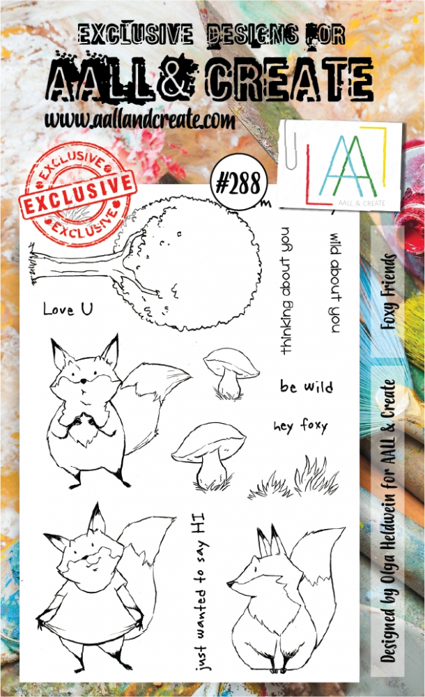 Bild 1 von AALL & Create Clear Stamps  - Foxy Friends