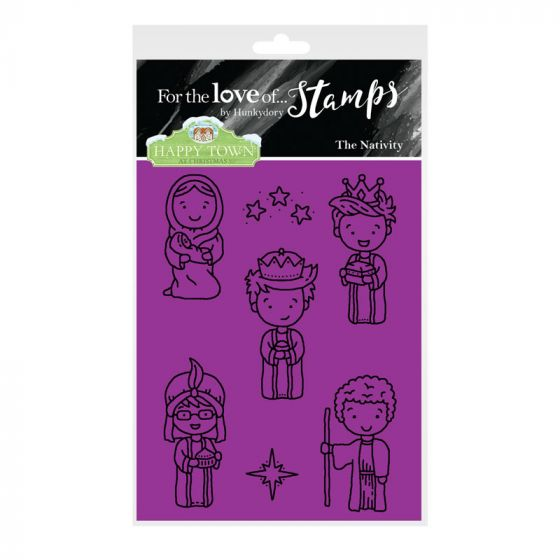 Bild 1 von For the love of...Stamps by Hunkydory - Happy Town Clear Stamp - The Nativity