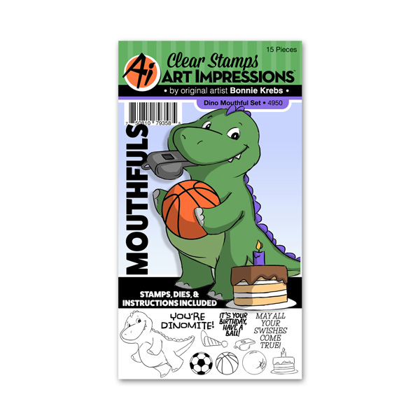 Bild 1 von Art Impressions Clearstamps Stanze Dino Mouthful Set